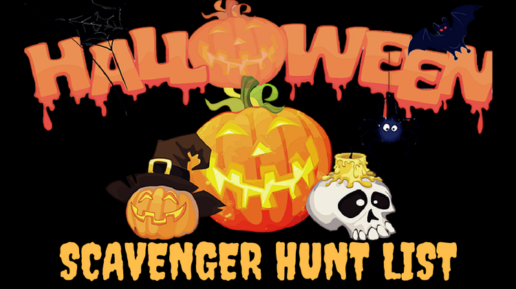 Halloween Scavenger Hunt List
