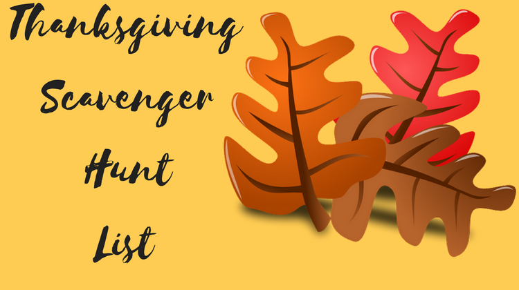 Thanksgiving Scavenger Hunt List