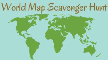 World Map Scavenger Hunt