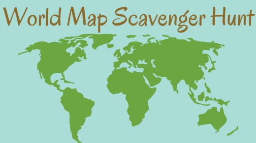World Map Scavenger Hunt Idea