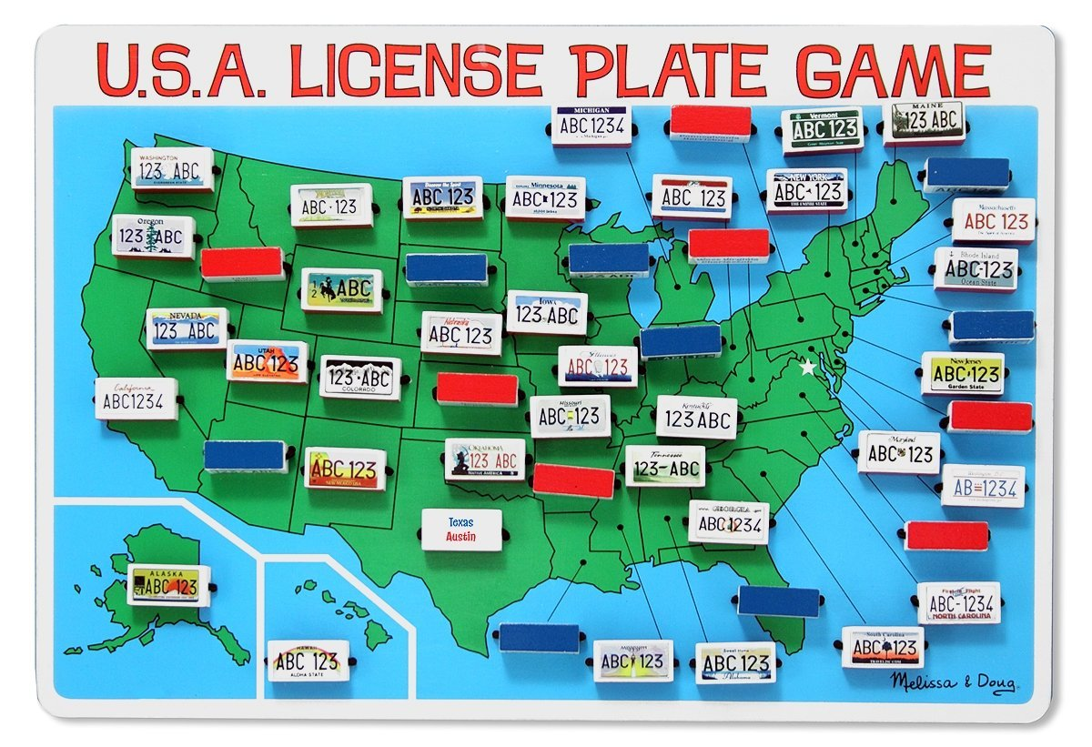 License Plate Game – Scavenger Hunt Idea