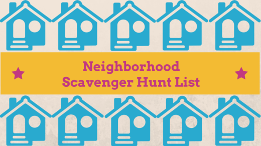 Neighborhood Scavenger Hunt List