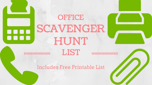 Office Scavenger Hunt List