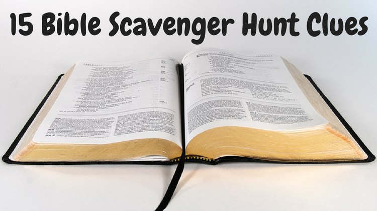 Well-known 15 Bible Scavenger Hunt Clues QM12