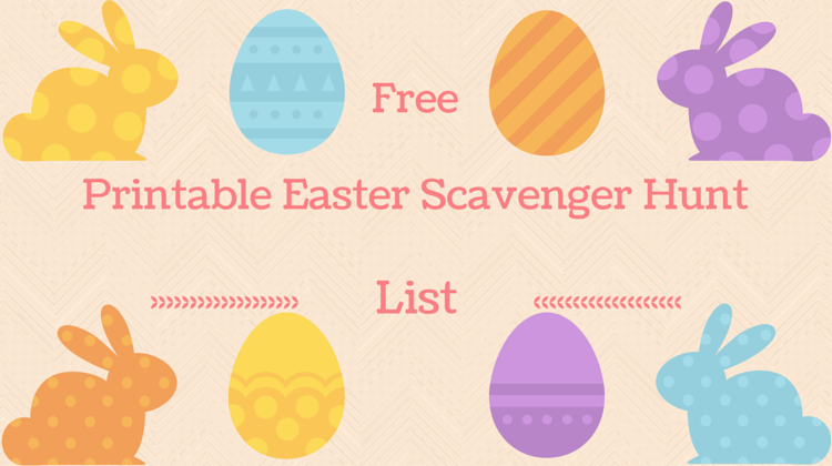 Easter Scavenger Hunt List