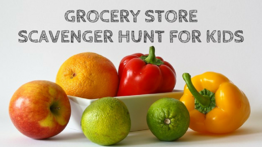 Grocery Store Scavenger Hunt For Kids