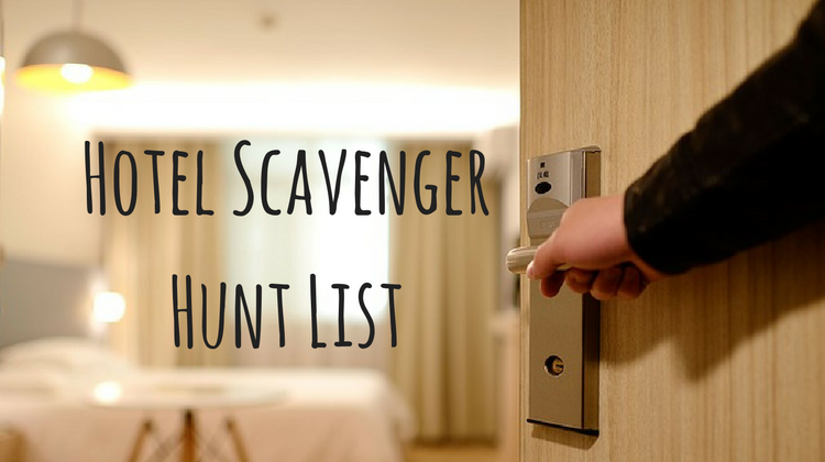 Hotel Scavenger Hunt List
