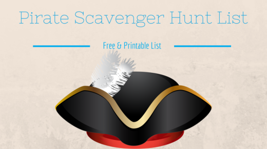 Pirate Scavenger Hunt List