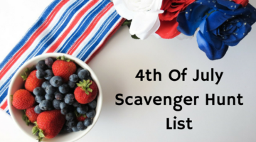 4th Of July Scavenger Hunt List