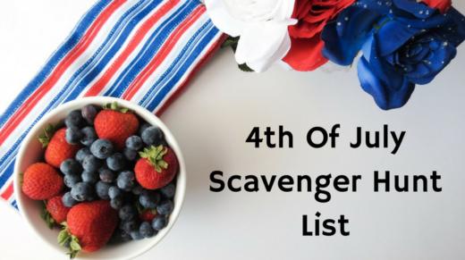 4th Of July Scavenger Hunt List