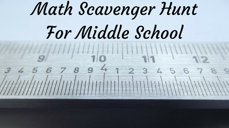 Math Scavenger Hunt For Middle School
