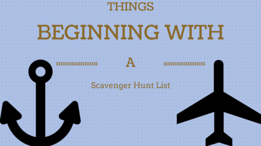 Things Beginning With A Scavenger Hunt List