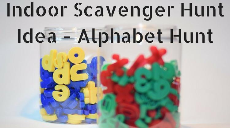Indoor Scavenger Hunt Ideas Alphabet Hunt