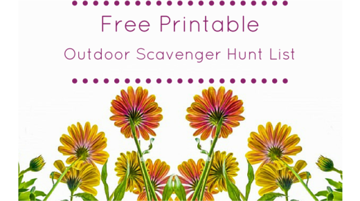 Outdoor Scavenger Hunt List