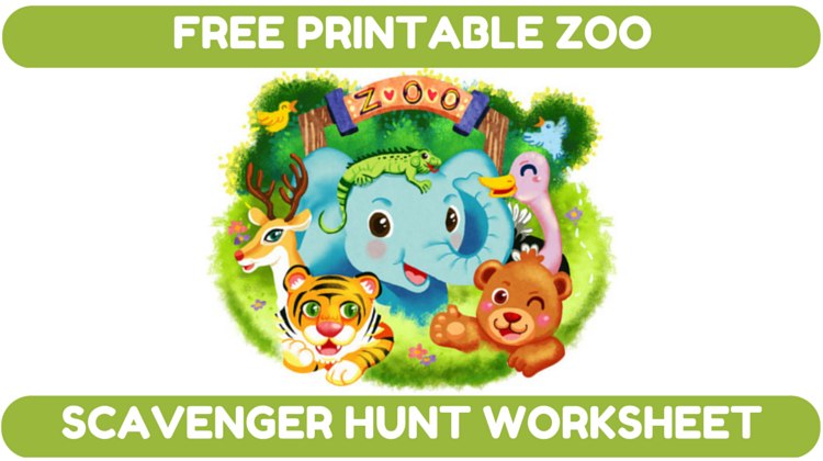 Zoo Scavenger Hunt Worksheet