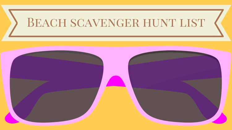 Beach Scavenger Hunt List