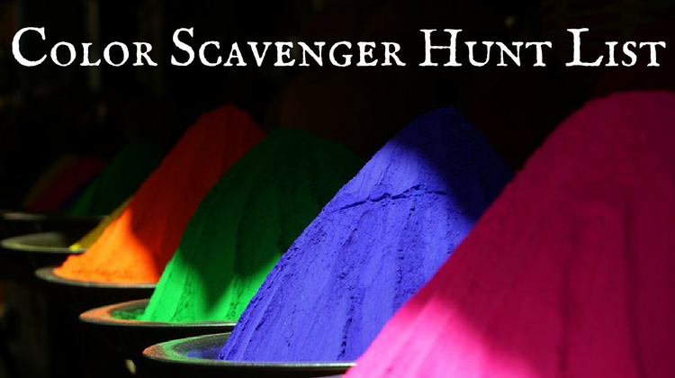 Color Scavenger Hunt List