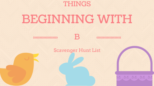 Things Beginning With B Scavenger Hunt List