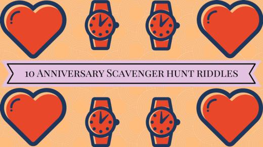 10 Anniversary Scavenger Hunt Riddles