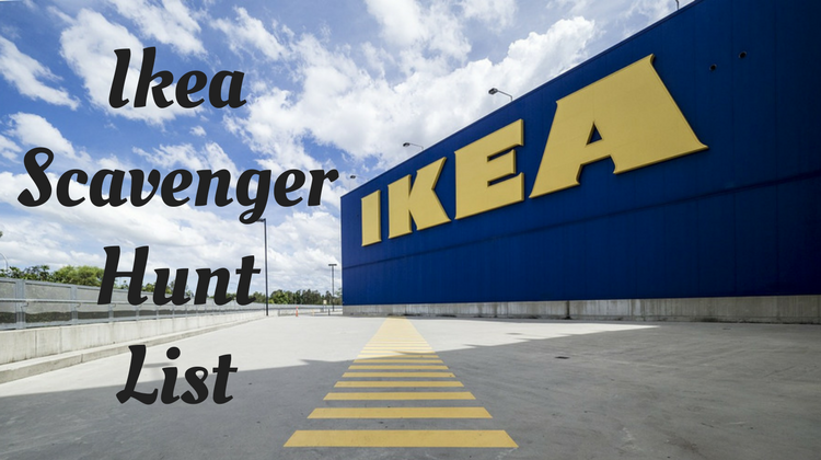 Ikea Scavenger Hunt List