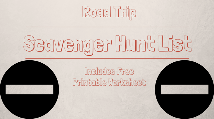 Road Trip Scavenger Hunt List