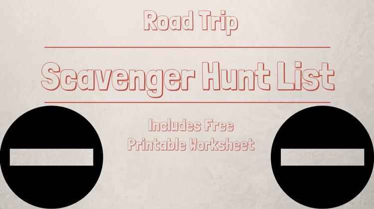 Road Trip Scavenger Hunt List