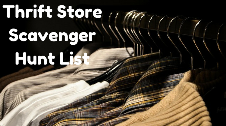 Thrift Store Scavenger Hunt List