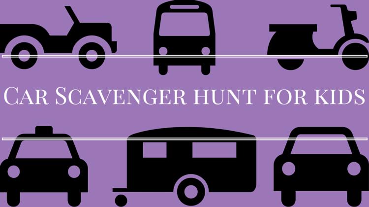 Car Scavenger Hunt For Kids