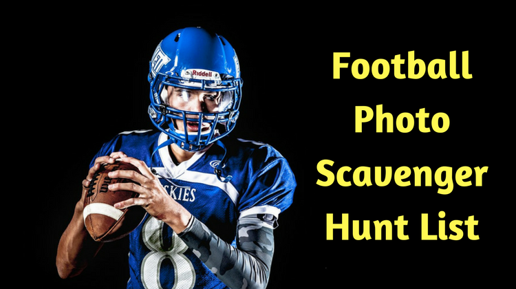 Football Photo Scavenger Hunt List
