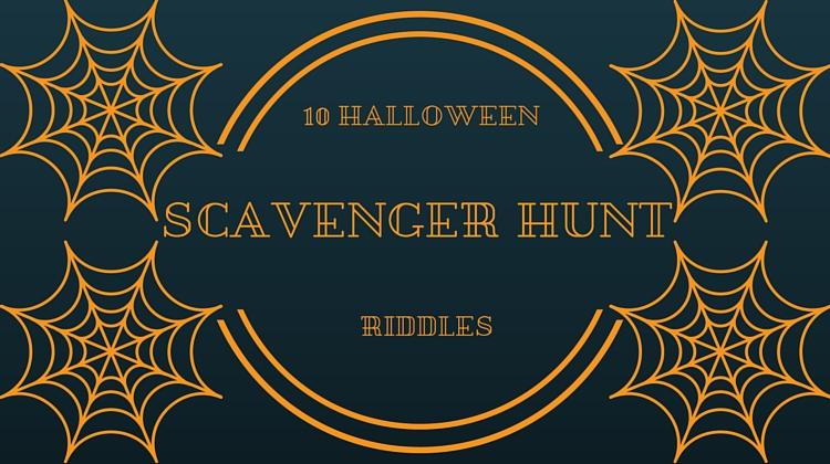10 Halloween Scavenger Hunt Riddles