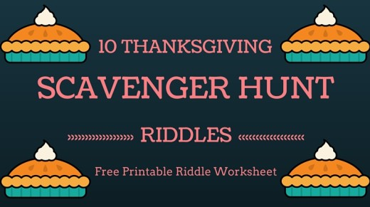 10 Thanksgiving Scavenger Hunt Riddles