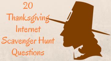 20 Thanksgiving Internet Scavenger Hunt Questions