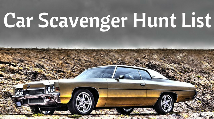 Car Scavenger Hunt List