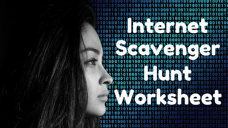 graphic relating to Printable Internet Scavenger Hunt titled Website Scavenger Hunt Scavenger Hunt