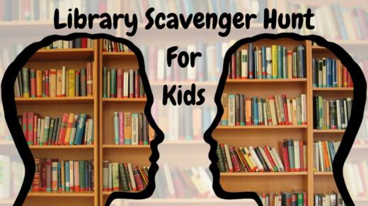 Library Scavenger Hunt For Kids