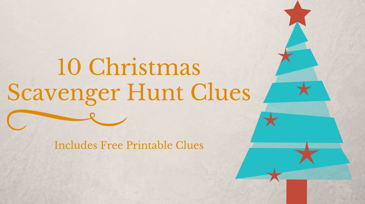 10 Christmas Scavenger Hunt Clues