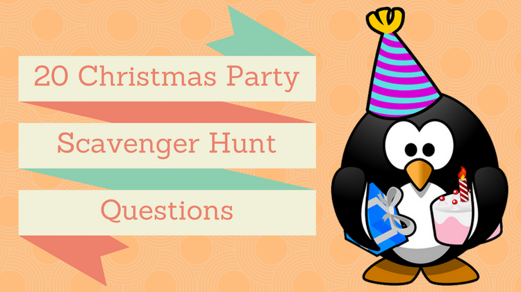 20 Christmas Party Scavenger Hunt Questions