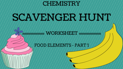 Chemistry Scavenger Hunt Worksheet - Food Elements