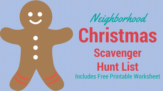 Neighborhood Christmas Scavenger Hunt List