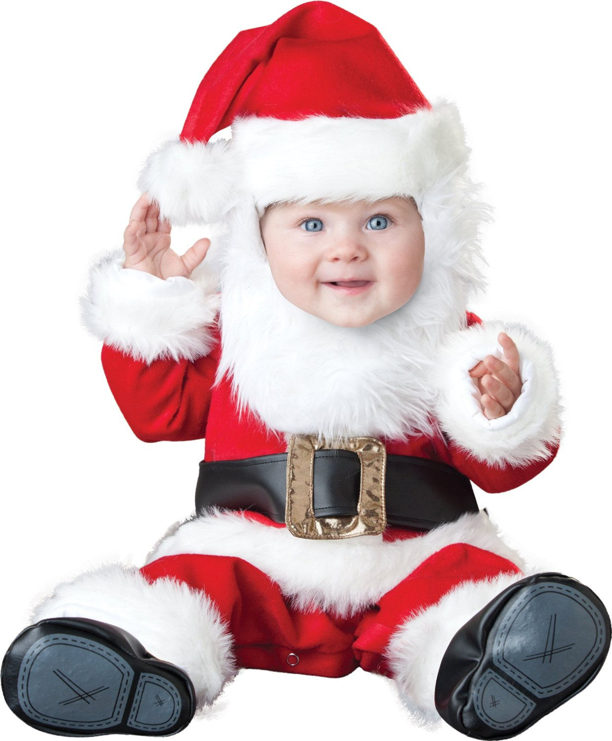 You don't have to visit the North Pole to find everything you need for the perfect Santa Claus costume. Don't forget a Santa outfit for the kids! Whether it's your baby's first Christmas or for your Santa-obsessed toddler, we've got their costumes covered.